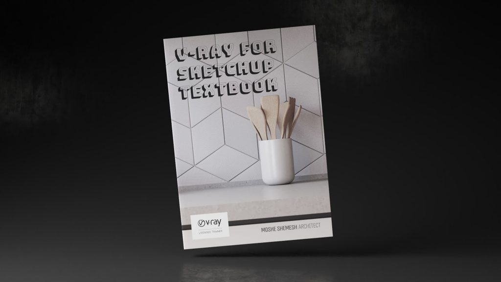 V-Ray for SketchUp Textbook main cover book tilted